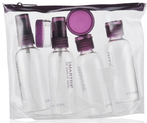transparent bag and mini bottles hajj umrah travel