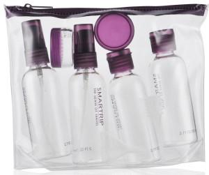 transparent bag and mini bottles hajj umrah travel