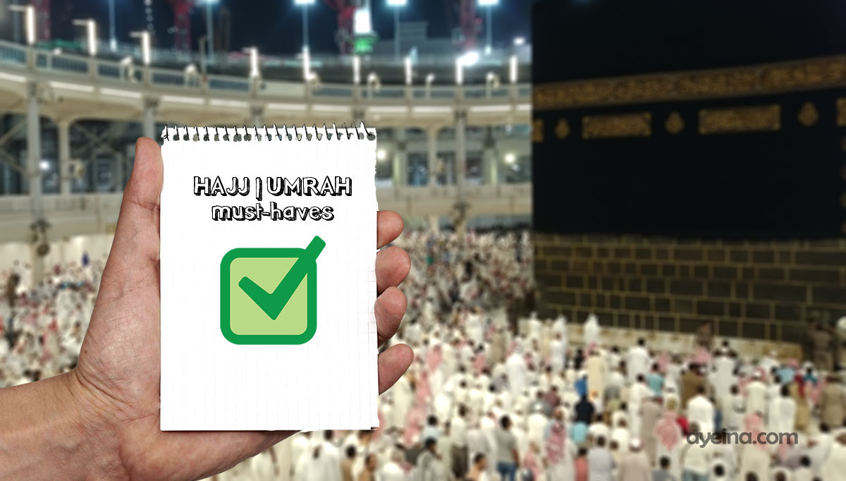 what to pack for hajj/umrah minimalist