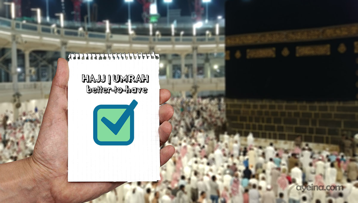 umrah hajj packing list