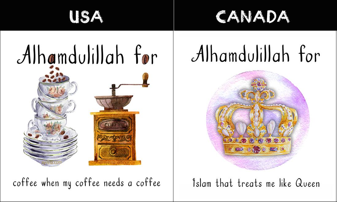 north america Gratitude for muslims around the world samina farooq ayesha farooq zayeneesha gratitude journal for muslims