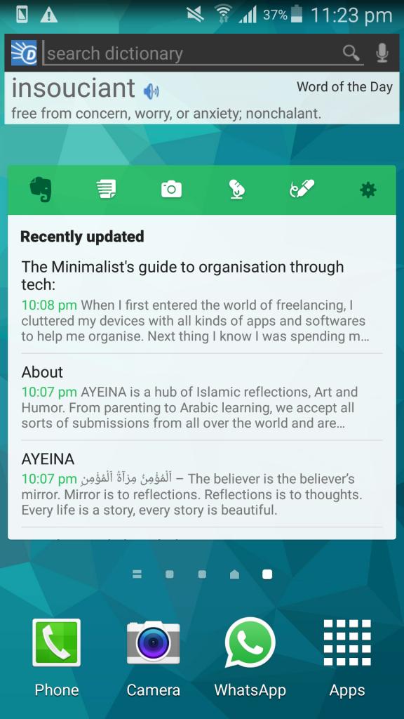 ayeina organisation apps minimalist blogger's guide
