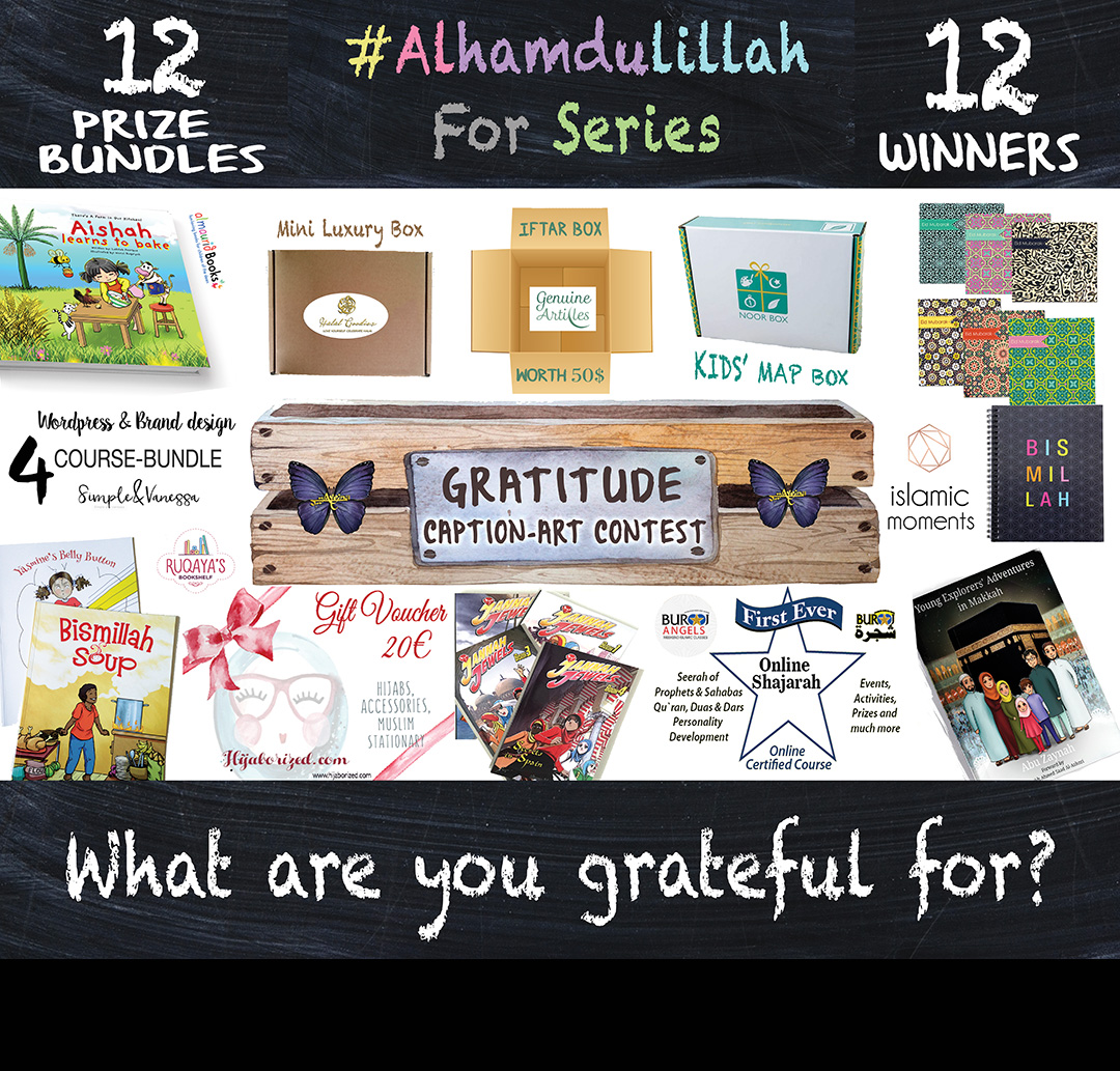 International contest, Alhamdulillah Journal, eid gift, Islamic gift, mini journal, Muslim children books, personal development, positivity, praise Allah, Ramadan activity for kids, spiritual growth, thank Allah, watercolor illustrations, @ayeina_official, halal goodies, genuine articles, islamic moments, hijaborized, almaurid books, ruqaya's bookshelf, islamopedia, jannah jewels, simple and vanessa, burooj angels, noor box, free international shipping