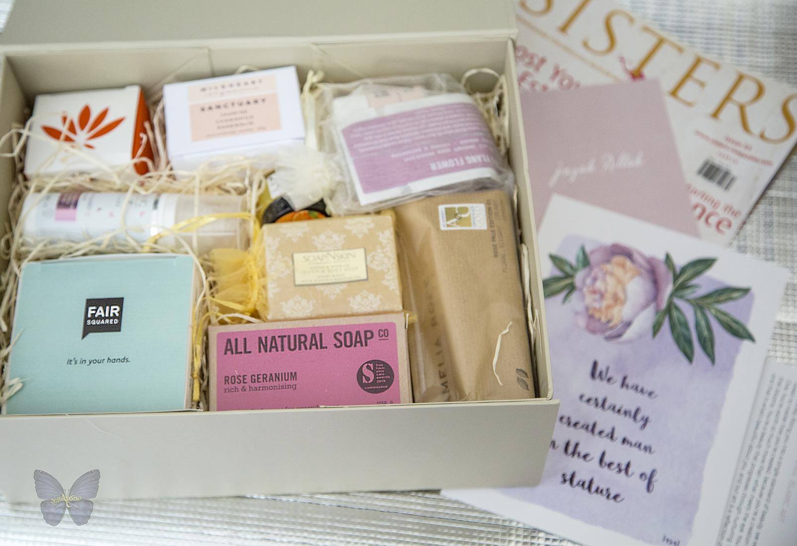 muslim women box, art print, organic cream, handmade soap, sisters magazine, ayeina, samina farooq