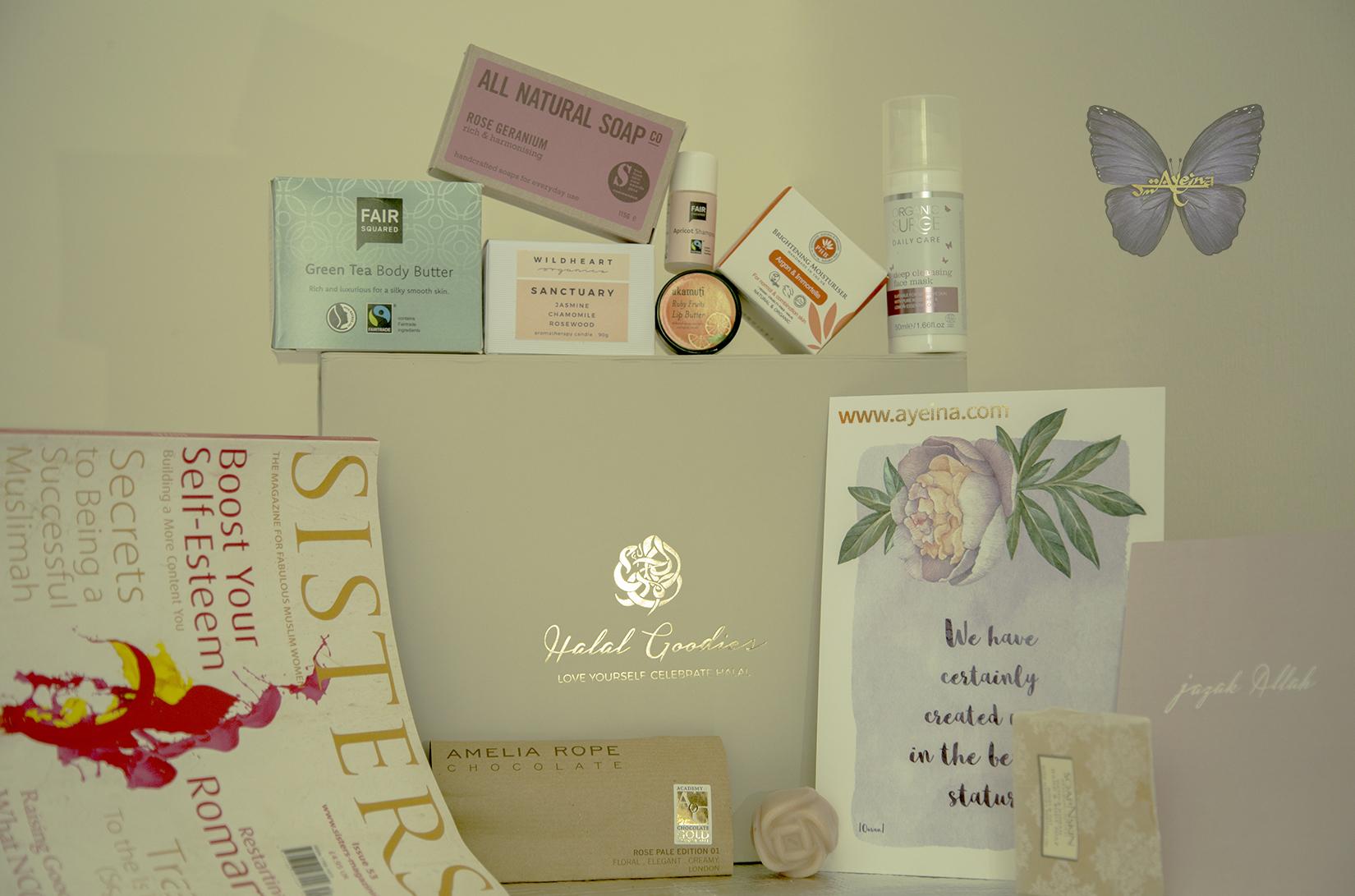 ayeina, samina farooq, muslim women box, art print, organic cream, handmade soap, sisters magazine