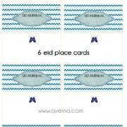 6 eid place cards - AYEINA estore4a