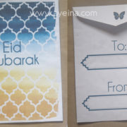 ayeina design islamic pattern watercolor background money envelope for kids at eid