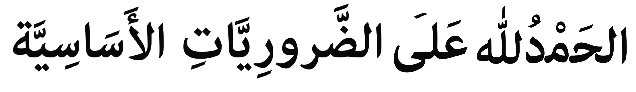 Alhamdulillah ala zarooriyat asaasiyyah - Alhamdulillah for basic necessities - arabic gratitude journal by ayeina