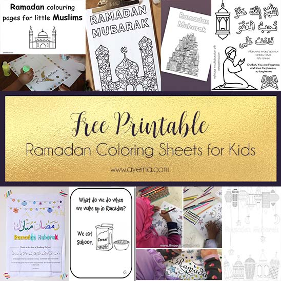 Involving Kids In The Ramadan Spirit (+ FREE Printables