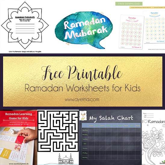 Involving Kids in the Ramadan Spirit (+ FREE printables