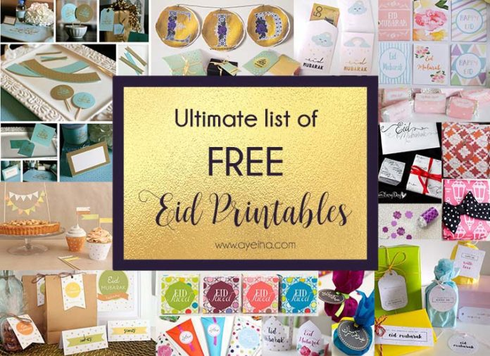 Free printable Eid Party Packs - Table Decor, Eid Banner/ Garland/ Bunting, Cards/ Posters, Eid Envelopes/ Wrapping Sheets/ Boxes and Eid Gift Tags/Stickers , eid freebies for kids, eid freebies for mini muslims, eid free printables for muslims, muslim parenting, muslim mother, eid tags, islamic pattern eid envelope, ramadan mubara bubble, eid place cards for eid table, eid cards watercolor florals, pastels, eid banner gold and purple, coloring sheets for muslim kids, #AlhamdulillahForSeries gratitude coloring journal for kids, eid mubarak arabic coloring card, eid coloring page, eid poster, ramadhan recipe card, bismillah, watercolor food card, laylatul qadr dua, lailatul qadr for muslim children , eid 2017,