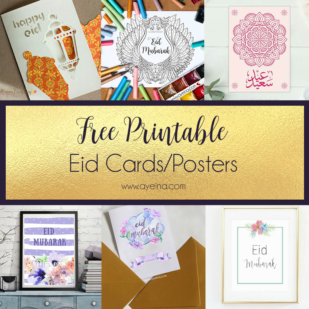 photo about Eid Cards Printable called Final Checklist of Absolutely free Eid Printables (Current: 2019) AYEINA