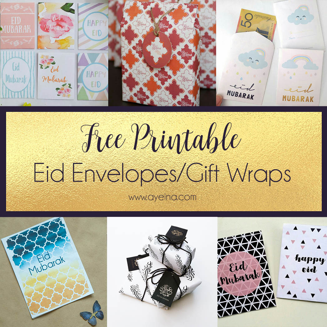 photograph about Free Envelope Printable named Best Listing of Free of charge Eid Printables (Up to date: 2019) AYEINA