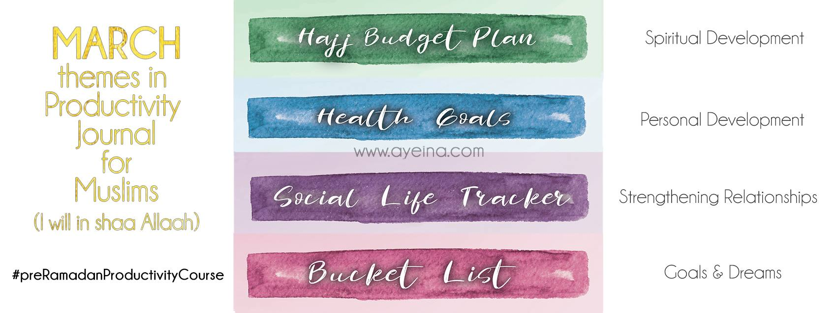 Productivity 6 Hajj Budgeting Health Goals Social Life Bucket List Ayeina