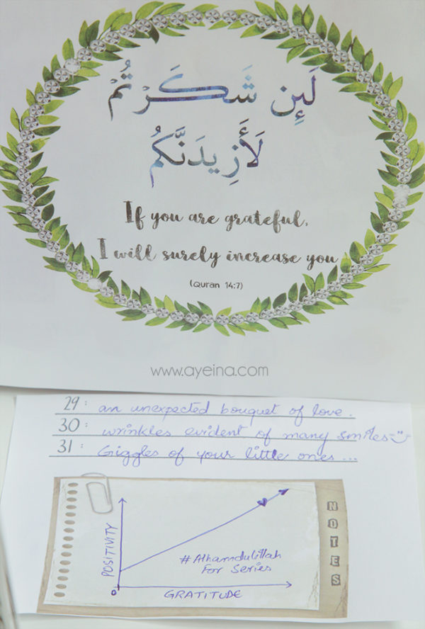 #AlhamdulillahForSeries gratitude journal for Muslims - favourite quranic verses