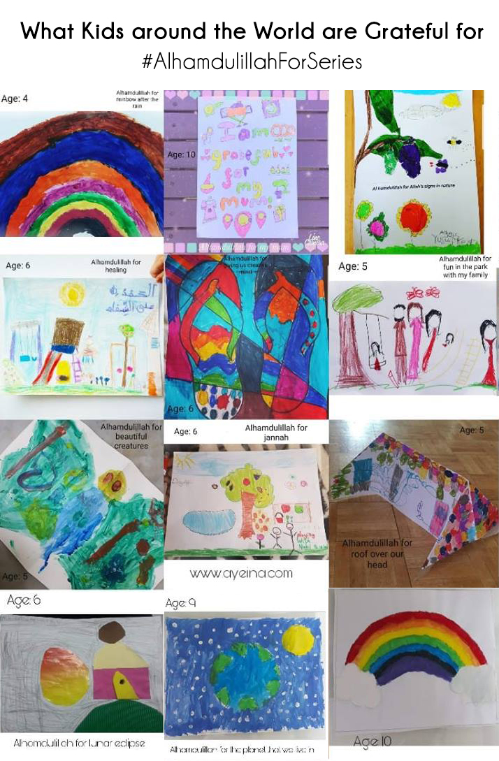 muslim kids, creative mini muslims, islamic art, gratitude activities for kids, raising grateful children, shukr art