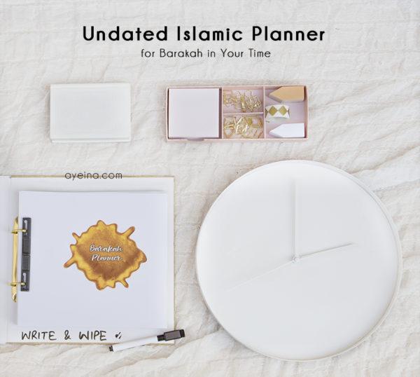 undated islamic planner - barakah daily salah planner, hadith journal, quran journal