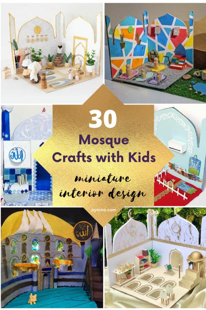 30 mosque crafts masjid interior design miniature